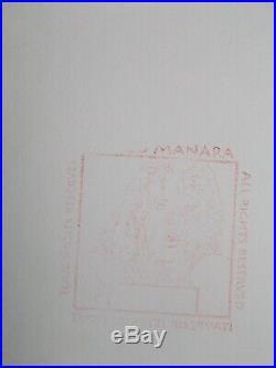 Portrait , Serigraphie de Milo Manara signée au crayon