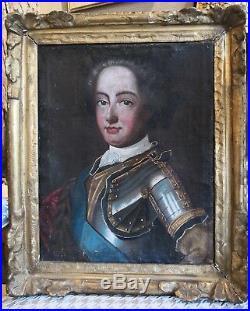Portrait de Louis XV, XVIIIe cadre XVIIe bois doré