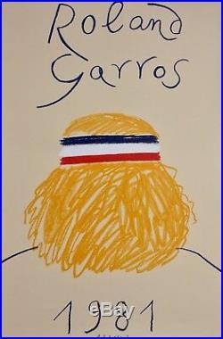 Poster Affiche Roland Garros 1981 Parfait Etat Galerie Maeght Lithographie