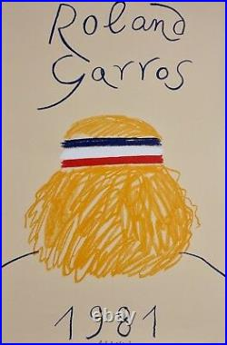 Poster Affiche Roland Garros 1981 Parfait Etat Original Eduardo Arroyo