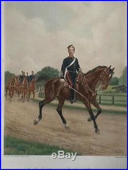 RARE Grande Gravure LE PRINCE IMPERIAL 46x38 Napoléon III Empire