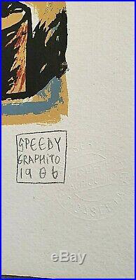 RARE lithographie SPEEDY GRAPHITO 86 signée num combas arman ben erro cesar jr