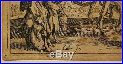 RARE série 3 gravures Jacques CALLOT les BOHEMIENS XVIIe vergé filigrané