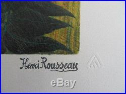 ROUSSEAU (Henri) le douanier Surpris LITHOGRAPHIE SIGNEE #1976 300ex