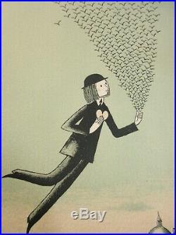 R. PEYNET Lithographie Signée, Numérotée, dédicacée à Mlle Julie