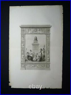 Rare! Frontispice de la Description de l'Egypte Panckoucke Louis XVIII
