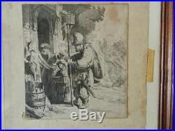 Rare Le Vendeur De Mort-aux-rats Rembrandt Fecit 1636
