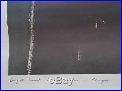 Rare Lithographie Originale de David Stein, vers 1960 / 1970, Brigitte Bardot