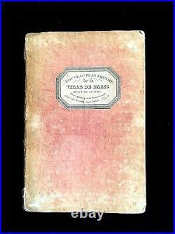 Rare Plan Routier De La Ville De Paris Orné De 28 Vues. Rosselin. 1832
