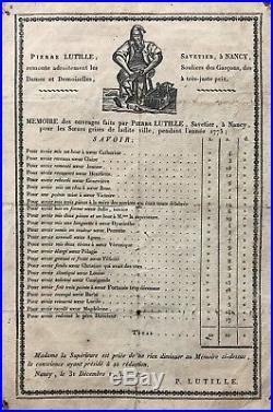 Rare Planche Humoristique Érotique XVIIIème Pierre Lutille savetier à Nancy