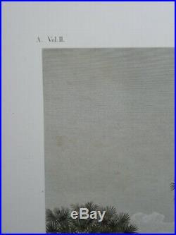 Rare gravure très grand format de la Description de l'Egypte Thèbes Memnonium