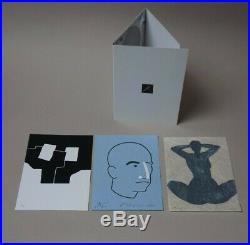 Rare portfolio 3 lithographies originales ARROYO CHILLIDA KOYAMA 1996