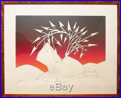 Rare sérigraphie géante de Jean-Michel FOLON (1934-2005) lithographie