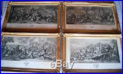 Rare-suite De 4 Gravures-alexandre Le Grand-le Brun-picault-scene De Batailles
