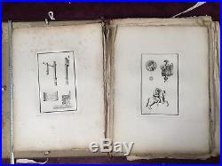Recueil De Gravures 1802 Willemin 1er Empire Costumes Antiques Pompéi Napoleonic