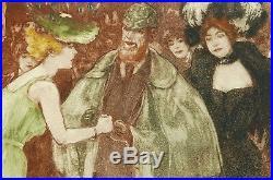 Richard RANFT suisse femmes estampe gravure aquatinte théâtre 1900 Art Nouveau
