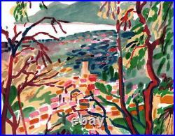 Robert SAVARY (1920-2000) LITHOGRAPHIE ORIGINALE SIGNÉE AU CRAYON, Grasse