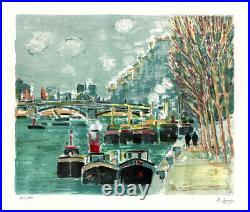 Robert SAVARY (1920-2000) LITHOGRAPHIE ORIGINALE SIGNÉE AU CRAYON, Paris