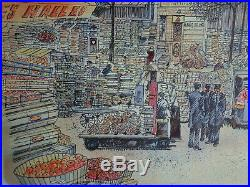 Rolf RAFFLEWSKI PARIS Les Halles- LITHOGRAPHIE Originale signée au crayon