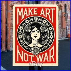SHEPARD FAIREY OBEY MAKE ART NOT WAR édition spéciale 30 ans