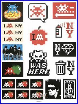 SPACE INVADER Stuck Up Stickers