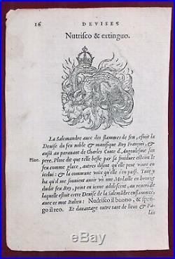 Salamandre 1557 François 1er Amphibien Herpétologie Charles dAngoulême Monnaie