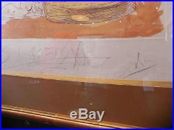 Salvador DALI 1965 Cirque elephants lithographie originale signée crayon cadre