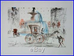 Salvador DALI New-York City Plaza LITHOGRAPHIE SIGNEE # RIVES