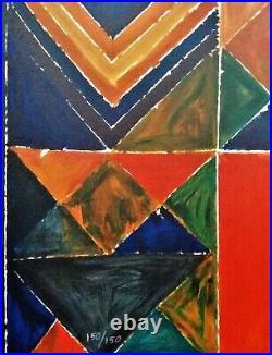 Sayed Haider RAZA peintre indien Morning Raga Lithographie signée numérotée