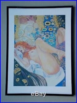 Serigraphie de Milo Manara Hommage a Gustav Klimt
