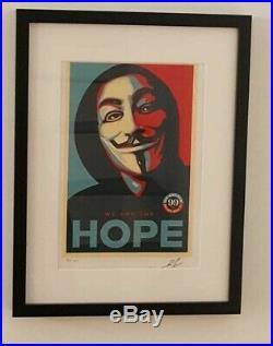 Shepard Fairey Lithographie HOPE Signée Et Numérotée sur 150 Certificat Edit