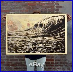 Shepard Fairey/OBEY -Lithographie Originale signée à la main Et Datée- Dark Wave