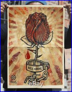Shepard Fairey aka Obey Shackle Rose Print Signed