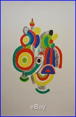 Sonia DELAUNAY Rythme couleur lithographie signée épreuve d'artiste