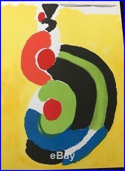 Sonia Delaunay Lithographie Originale