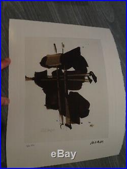 Soulages / Lithographie + Certificat