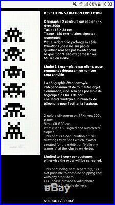 Space Invader Rve Repetition Variation Evolution Print #150