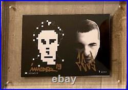 Space Invader signed postcard ZEVS