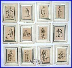 Suite de 12 gravures des Gueux de Jacques Callot, 1622