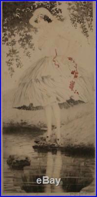Superbe Gravure Lithographie Art Deco Signee Georges Grellet Gout Icart