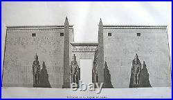 THEBES. LOUQSOR. (pl. 6, A. Vol. III). Elevation d. DESCRIPTION EGYPTE