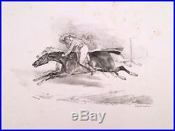 THÉODORE GERICAULT / Suite de 8 petites pièces Lithographies originales, 1823