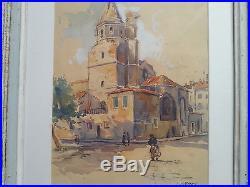 Tableau de Léon Cauvy. Église de la madeleine à Beziers