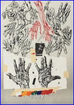 Très belle Lithographie originale VLADIMIR VELICKOVIC
