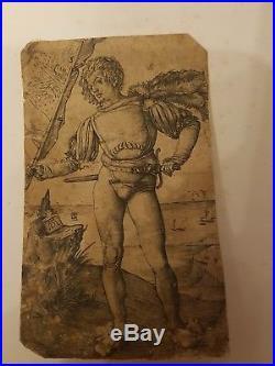 Tres belle gravure de Durer l enseigne 1502
