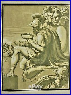 Très grande gravure de Francesco ROSASPINA daprès PARMIGIANINO