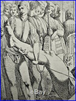 Très rare gravure de Giovanni DAVID daprès MANTEGNA Padova