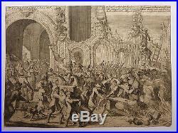 VAN DEN AVEELE Gravure 17e s UTRECHT Domkerk 1674 Guerre Hollande CONDÉ Pays-Bas