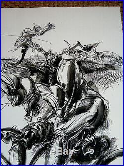 Vélickovic, Grande lithographie signée et N° 50/100