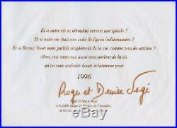 Venet Bernar Lithographie Sur Vélin 1995 Signé Dans La Planche Signed Lithograph